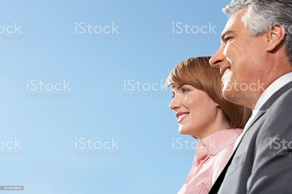 Businessman and businesswoman stock photo