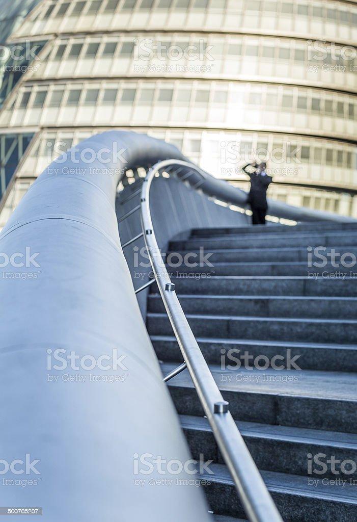 Businessman and Camera stock photo