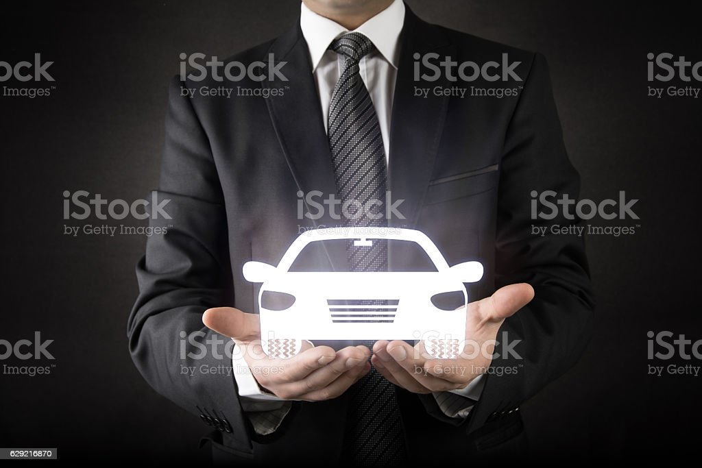 Businessman and Car Concept stock photo