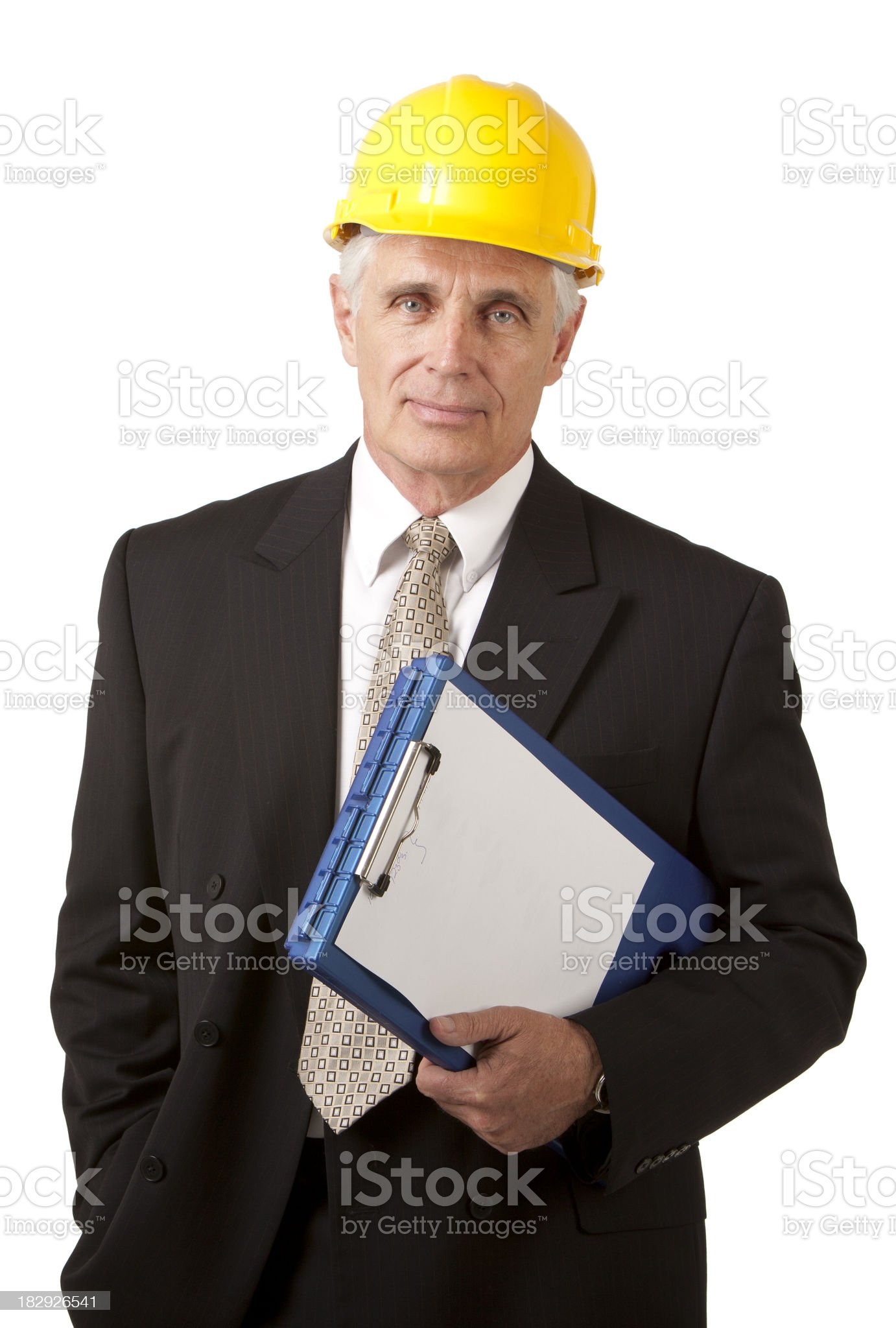 Businessman and Clipboard royalty-free stock photo