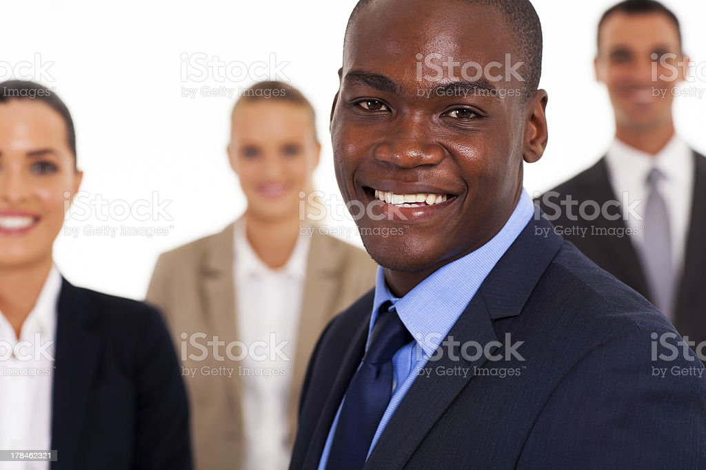 businessman and colleagues stock photo