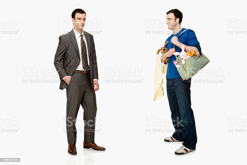 Businessman and father stock photo