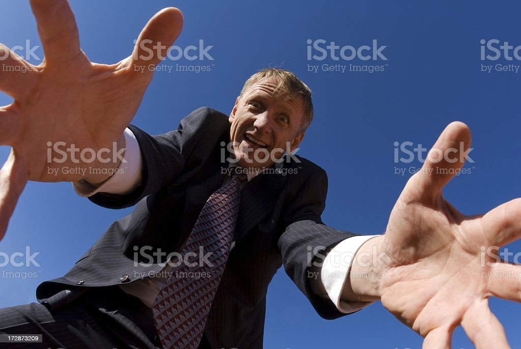 Businessman and Fisheye lens royalty-free stock photo