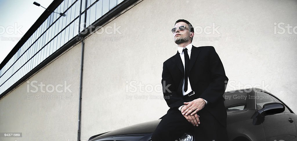 businessman and his car royalty-free stock photo
