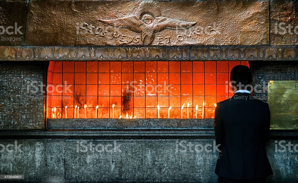 Businessman and his pray royalty-free stock photo