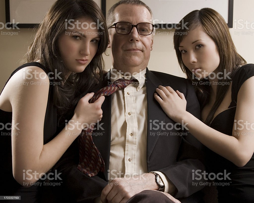 Businessman and his Staff royalty-free stock photo