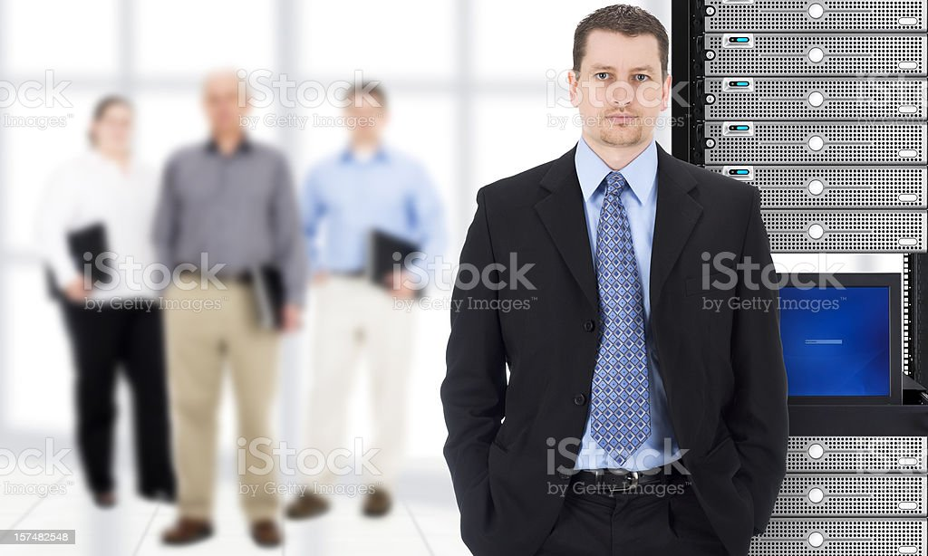 Businessman and IT Team royalty-free stock photo