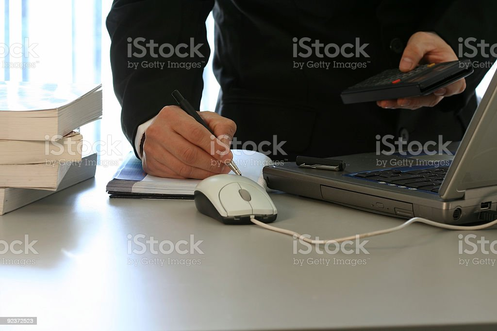Businessman and laptop royalty-free stock photo
