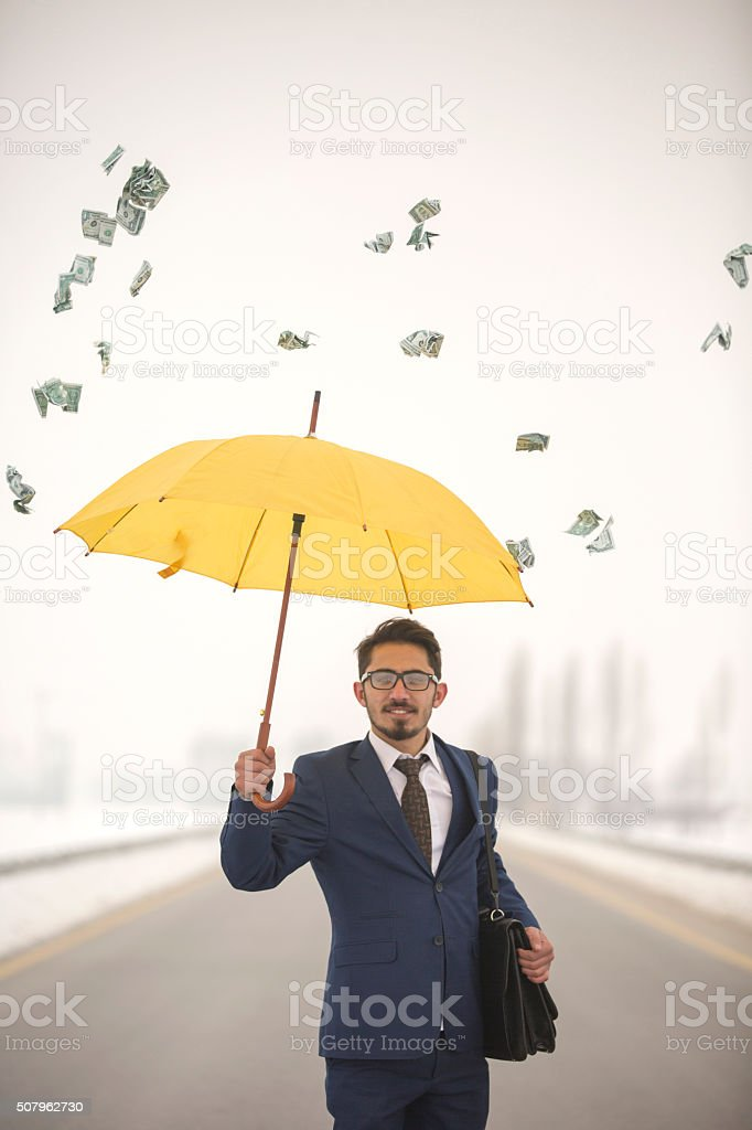 businessman and money stock photo