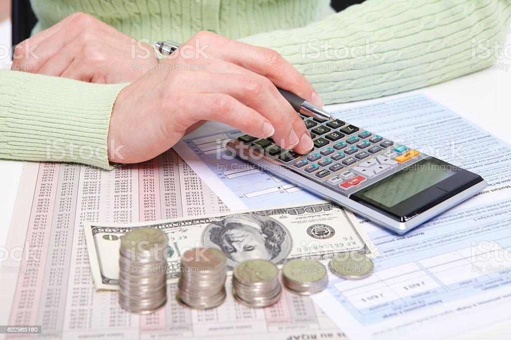 Businessman and money stock photo