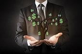Businessman and money tree
