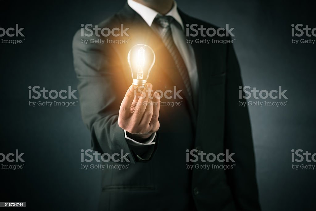 Businessman and new ideas concept stock photo