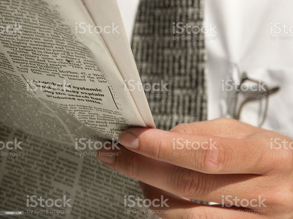 Businessman and Newspaper 06 royalty-free stock photo