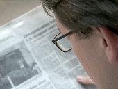 Businessman and Newspaper
