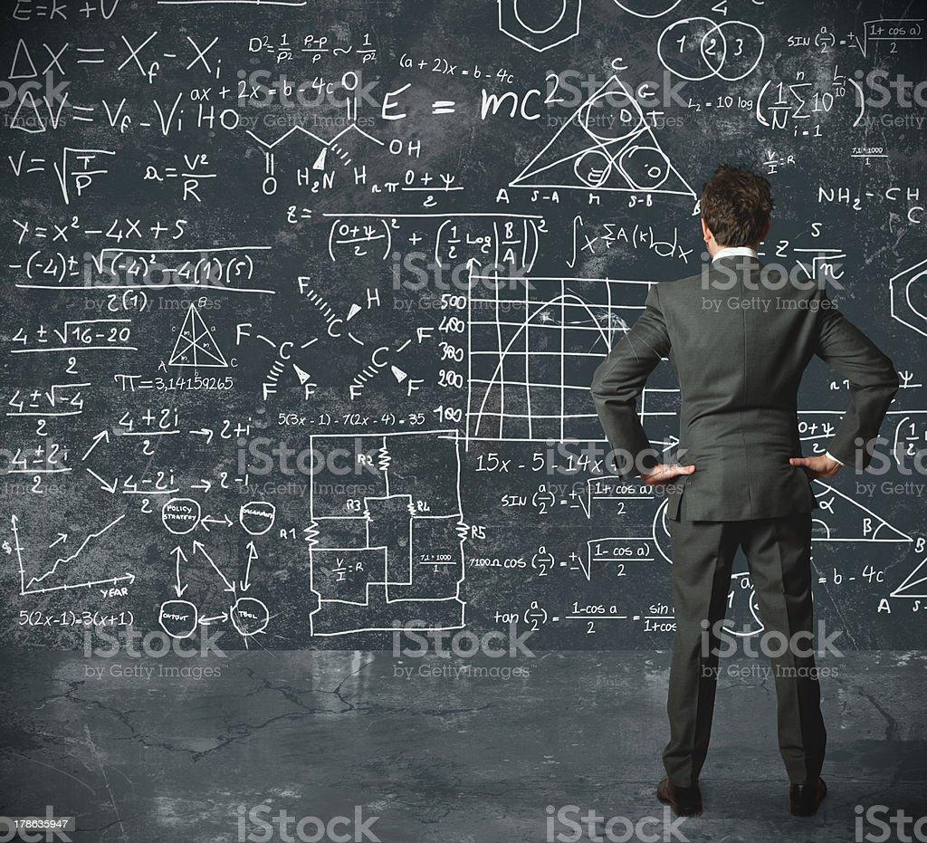 Businessman and problems stock photo