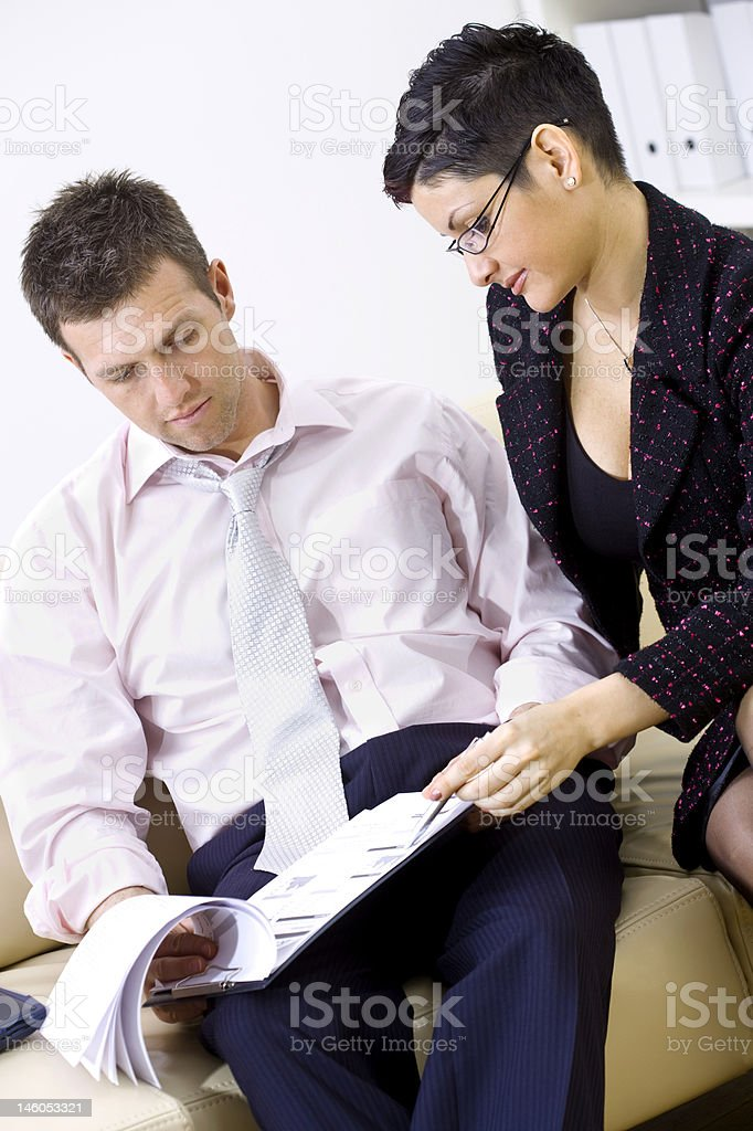 Businessman and secretary royalty-free stock photo