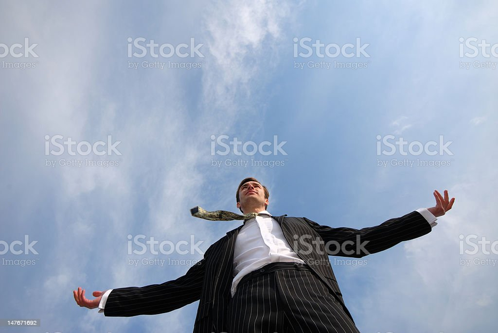 businessman and sky royalty-free stock photo