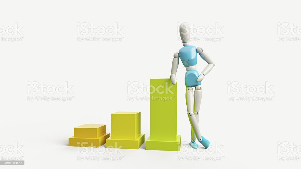 Businessman and statistics royalty-free stock photo