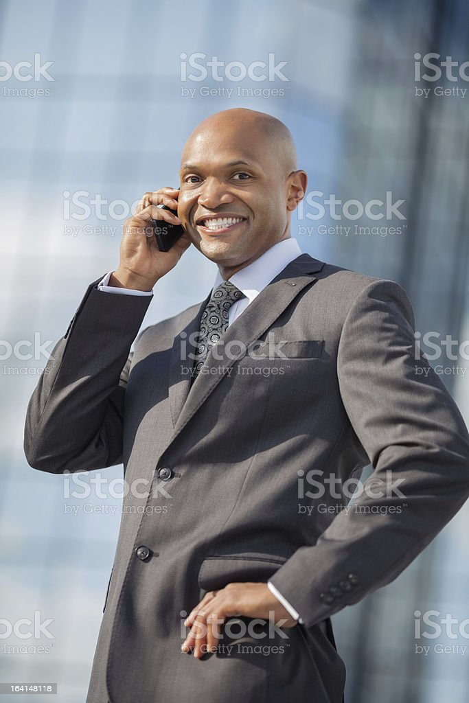 Businessman Answering Phone Call royalty-free stock photo