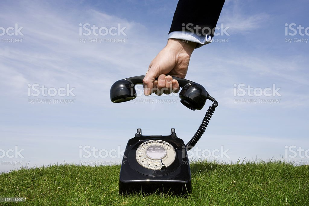 Businessman answering the phone royalty-free stock photo