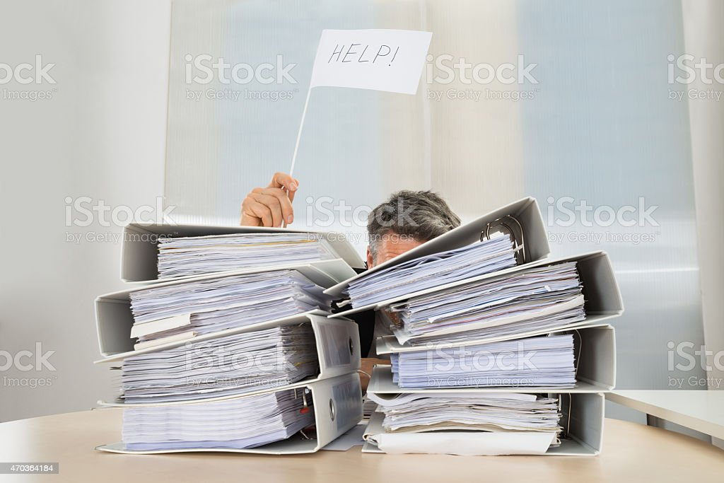 Businessman Asking For Help stock photo