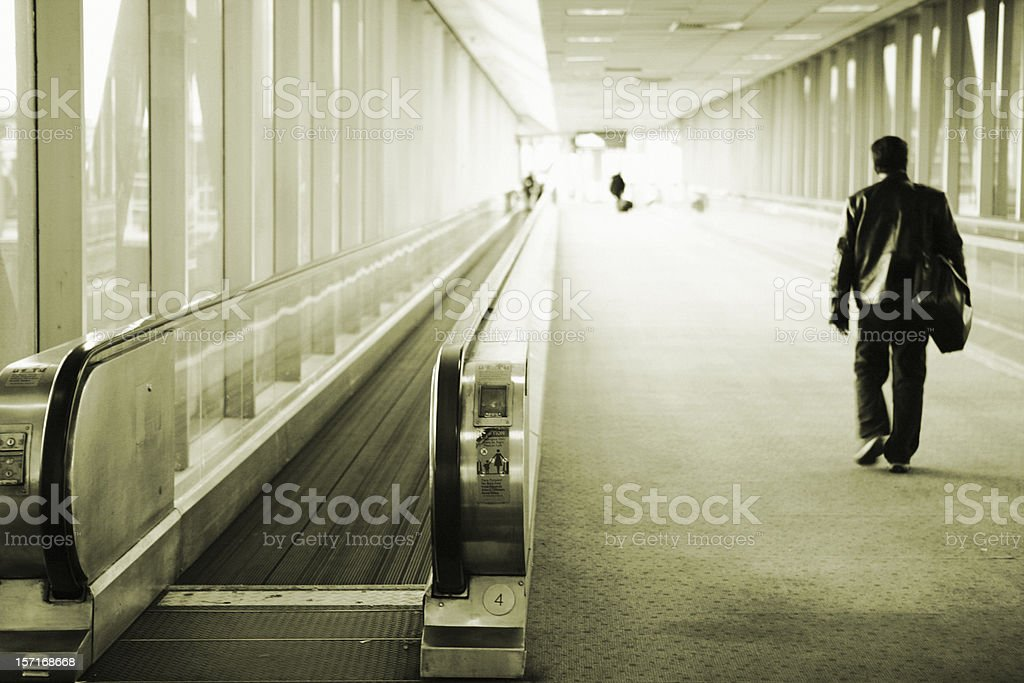 Businessman at airport royalty-free stock photo