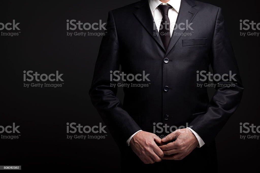 Businessman At Dark stock photo