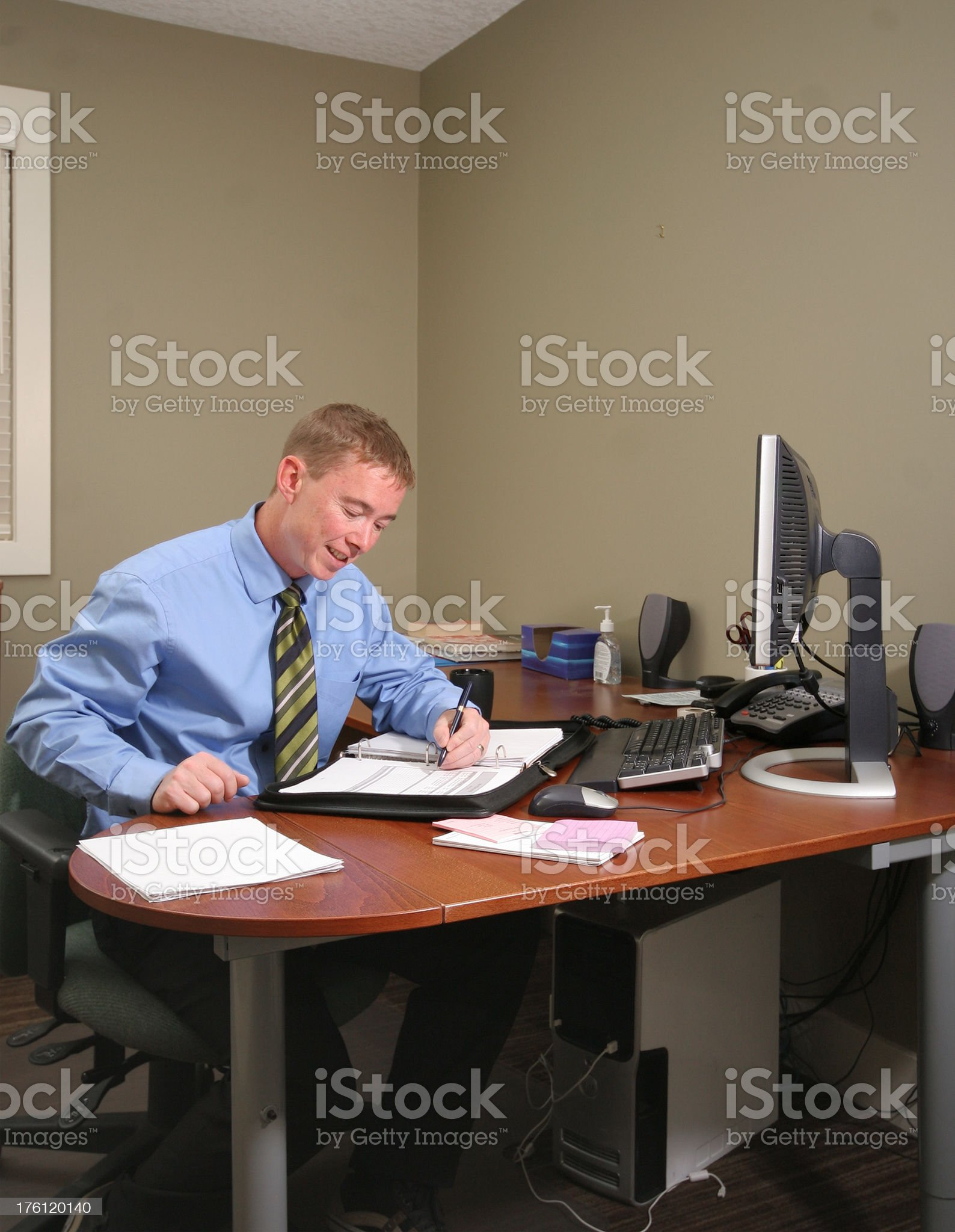 Businessman At Desk royalty-free stock photo