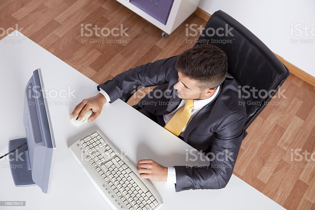 Businessman at his office royalty-free stock photo