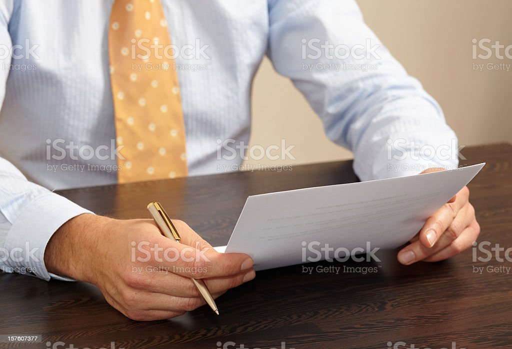 Businessman at his workplace royalty-free stock photo