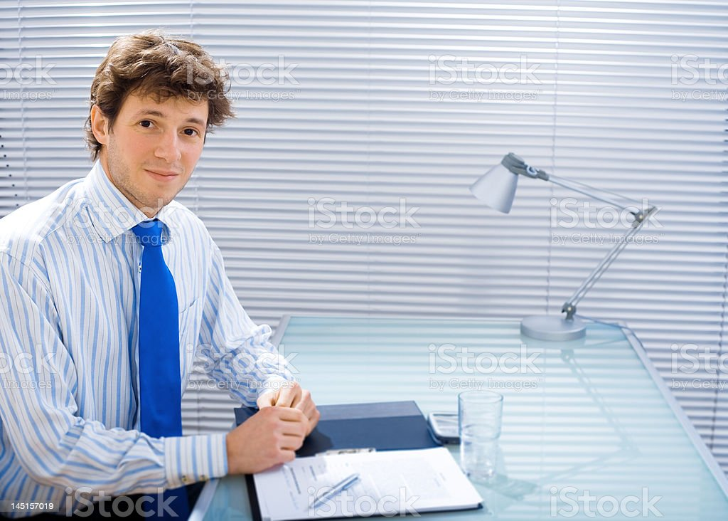 Businessman at office royalty-free stock photo