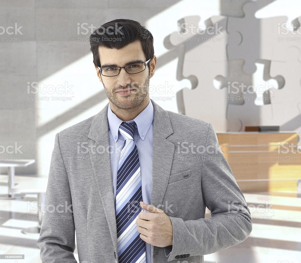 Businessman at office reception royalty-free stock photo