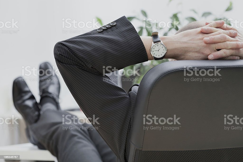 Businessman at the end of work royalty-free stock photo