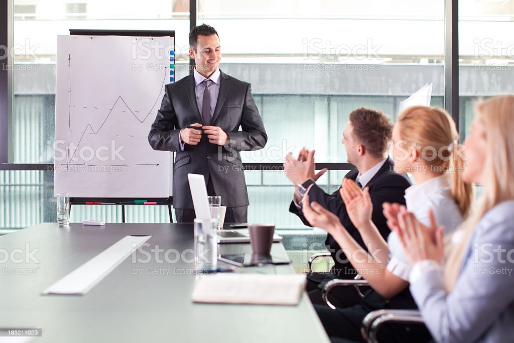 Businessman at the meeting. royalty-free stock photo
