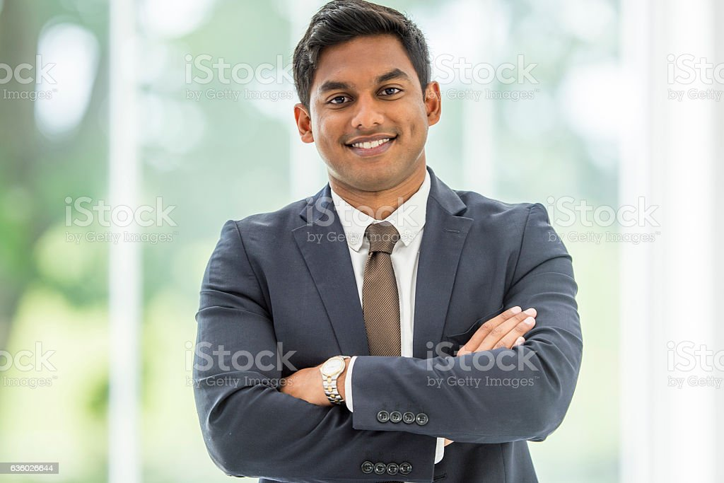 Businessman at the Office stock photo