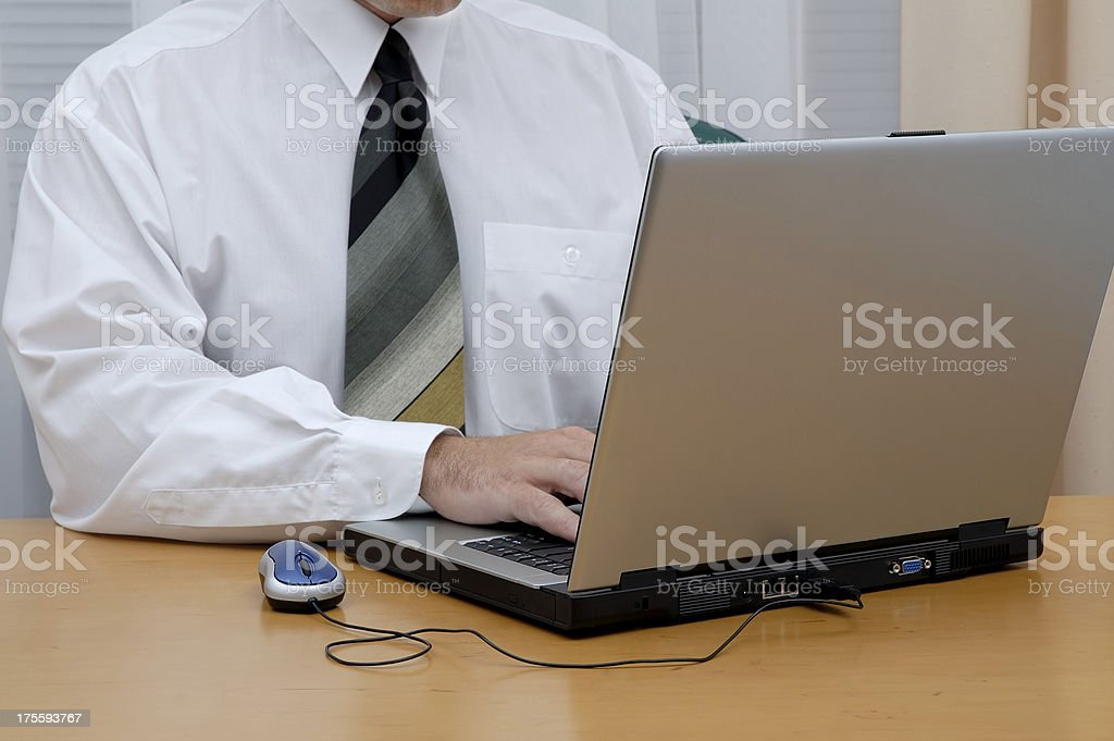 Businessman at work royalty-free stock photo