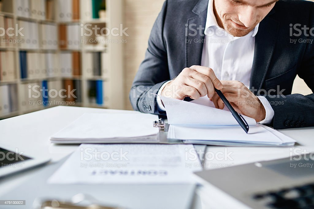 Businessman at work stock photo