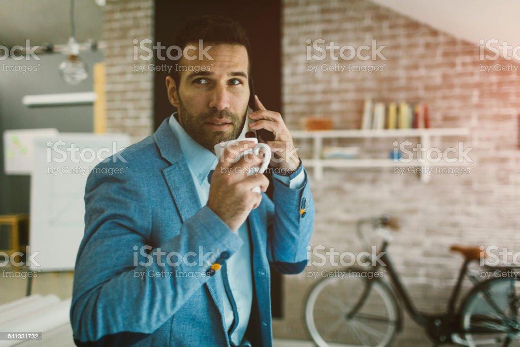 Businessman At Work stock photo