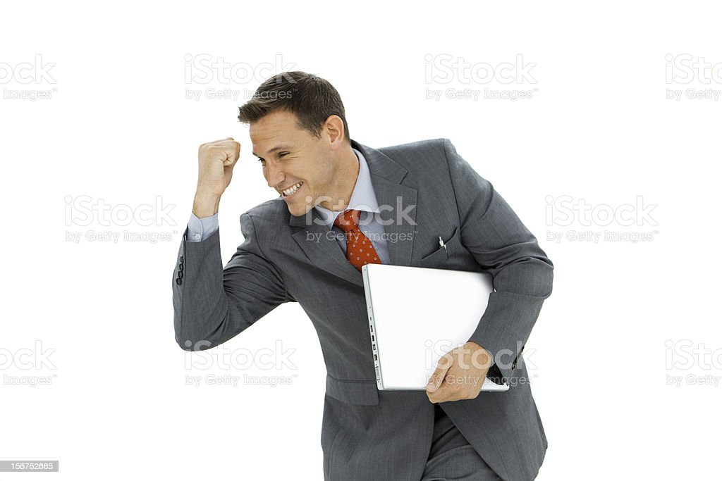 Businessman Attitude : I did it ! royalty-free stock photo