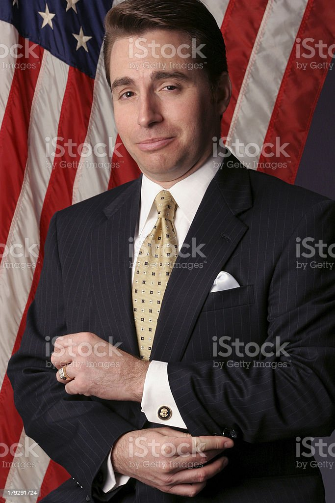 businessman becomes a nominee stock photo