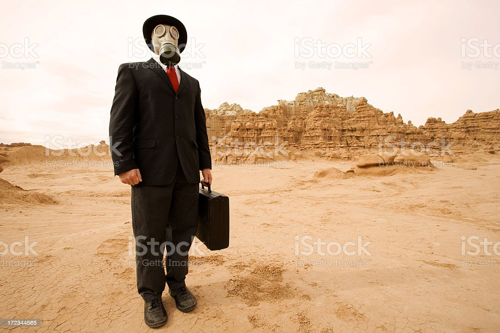 Businessman Boldly Going royalty-free stock photo