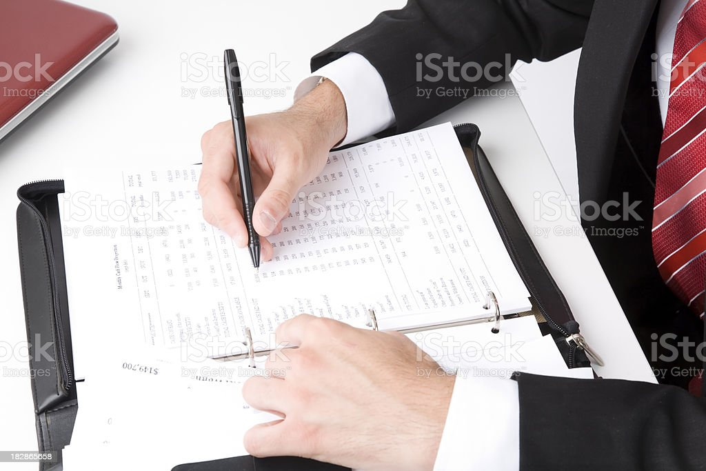 businessman busy with paper work royalty-free stock photo