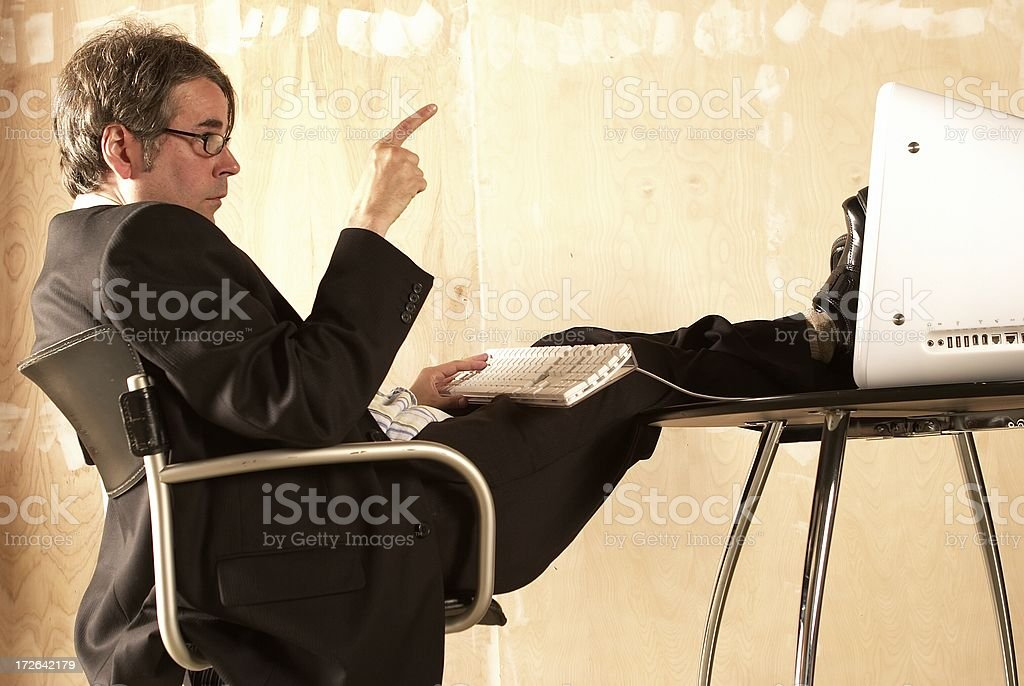 Businessman Calculations royalty-free stock photo