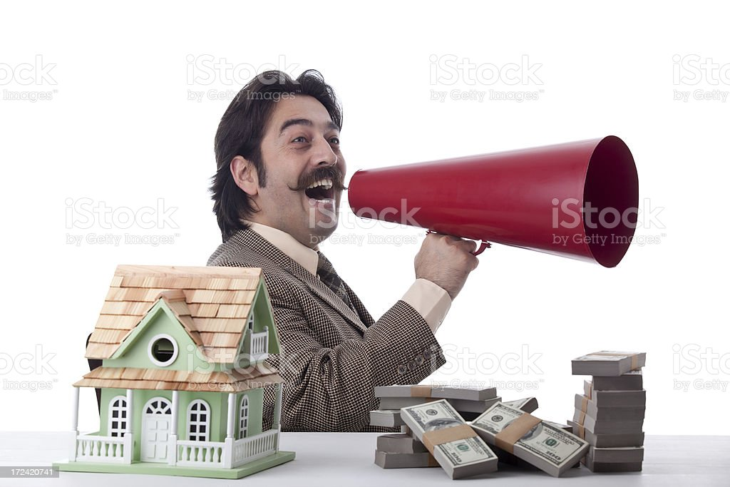 Businessman calling for loans royalty-free stock photo
