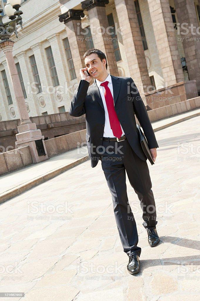 Businessman calling royalty-free stock photo