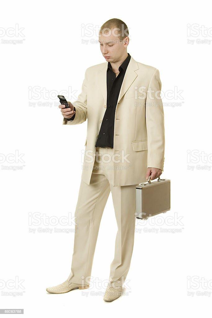 Businessman calls. royalty-free stock photo