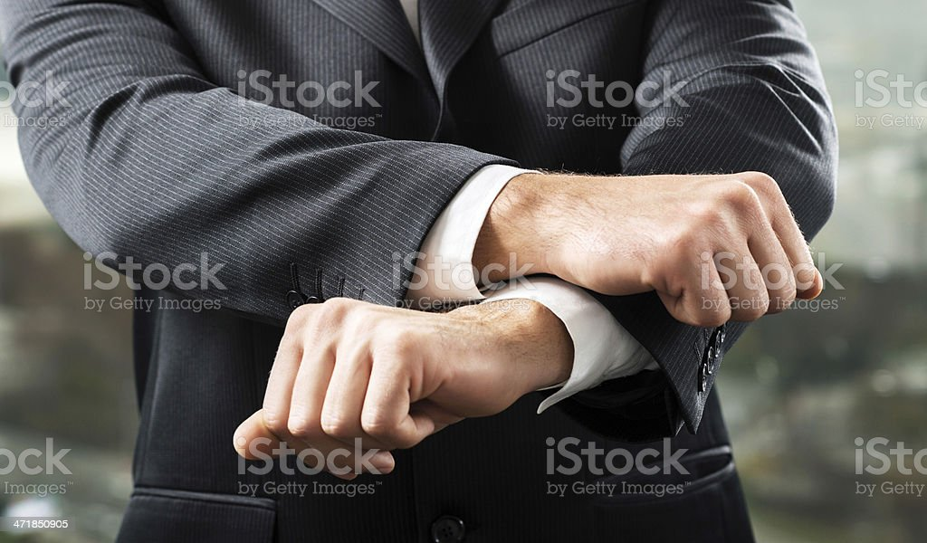 Businessman caught red handed! royalty-free stock photo