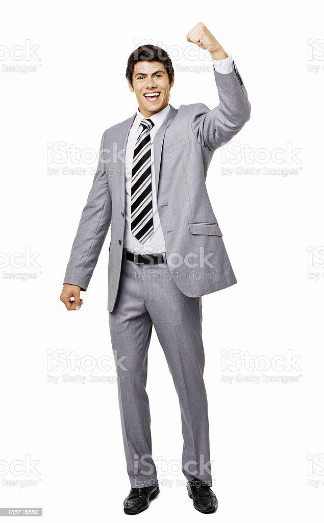 Businessman Celebrating - Isolated stock photo
