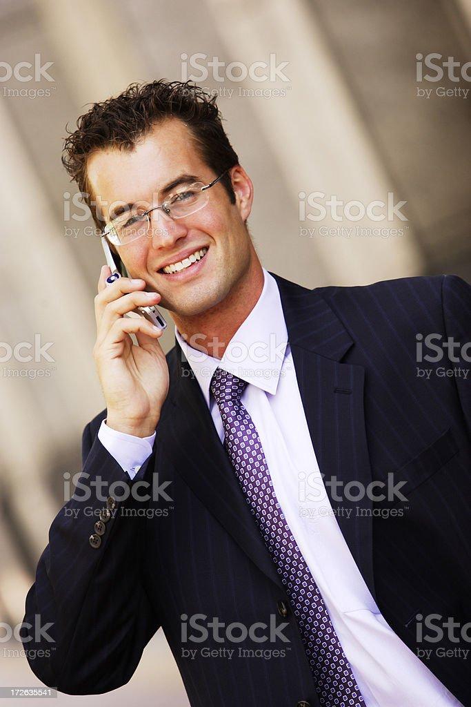 Businessman Cellphone I stock photo