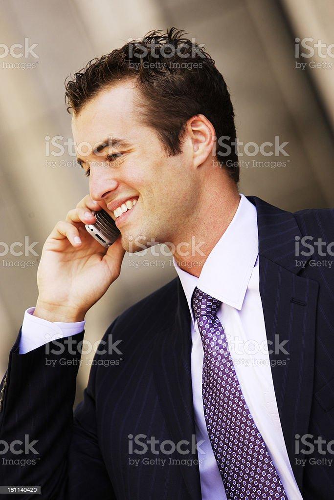 Businessman Cellphone II stock photo